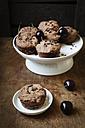 Vegan chocolate muffins with cherries - EVGF002104