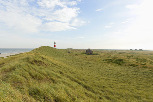 Germany, North Frisian Islands, Sylt, view to landscape with lighthouse - KLRF000089