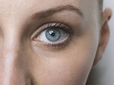 Close-up of blue eye of a  young woman - STKF001430