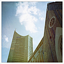 Germany, Leipzig, University Church and City-Hochhaus - GW004461