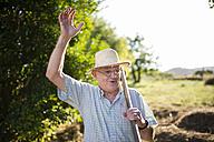 Portrait of greeting farmer - RAEF000311