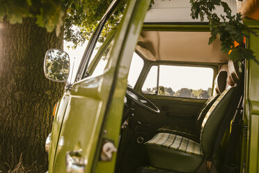 Van with open door in the nature - MFF002046