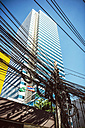 Thailand, Bangkok, tangled and messy electrical cables - EHF000174