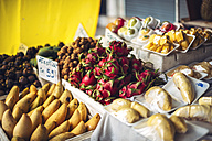 Fruit stall with exotic Thai fruits - EHF000172