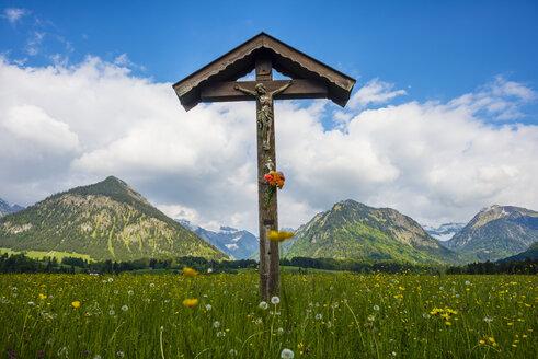Germany, Bavaria, Allgaeu, Allgaeu Alps, field cross - WGF000708