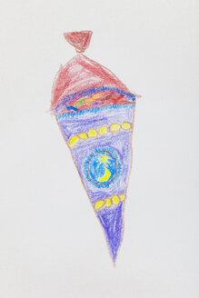Children's drawing, school cone - GWF004393
