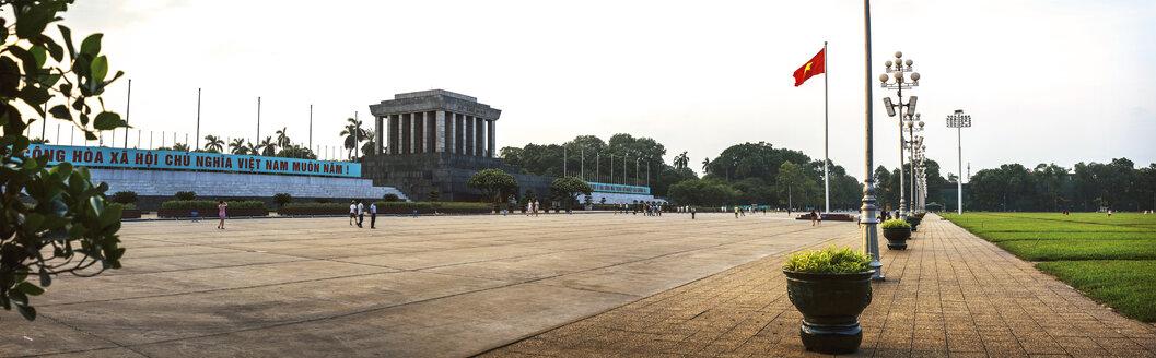 Vietnam, Panoramic view of Ho Chi Min mausoleum in Hanoi - EHF000192