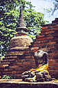 Thailand, Ayutthaya, old buddha statue in buddha temple - EHF000195