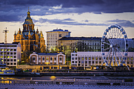 Finland, Helsinki, Uspenski Cathedral, harbour and ferris wheel - FV000008