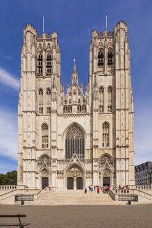 Belgium, Brussels, Cathedral of St Michael and St Gudula - WDF003184
