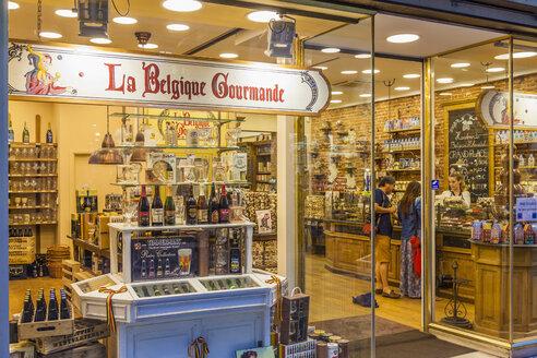 Belgium, Brussels, window display of delicacy shop - WD003232