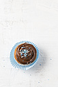 Cupcake with chocolate cream and sugar beads - MYF001136