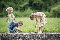 Three little children playing together - OPF000072