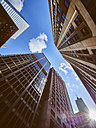 USA, Illinois, Chicago, High-rise buildings, View from below - DISF002163