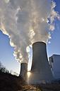 Germany, Neurath, coal fired power station Neurath II with backlight - RUEF001639