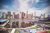 USA, New York City, View of Manhattan skyline and East River - ONF000863