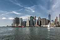 USA, New York City, View of Manhattan skyline and East River - ONF000864