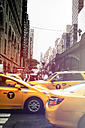 USA, New York City, Yellow cabs at rush hour - ON000874