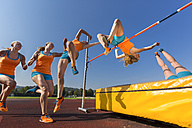 Sequence of high jumper crossing bar - STSF000858