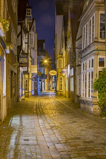 Germany, Bremen, Schnoor street in historic downtown - NKF000378