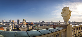 Germany, Berlin, panoramic city view from roof terrace of French Cathedral - NKF000384