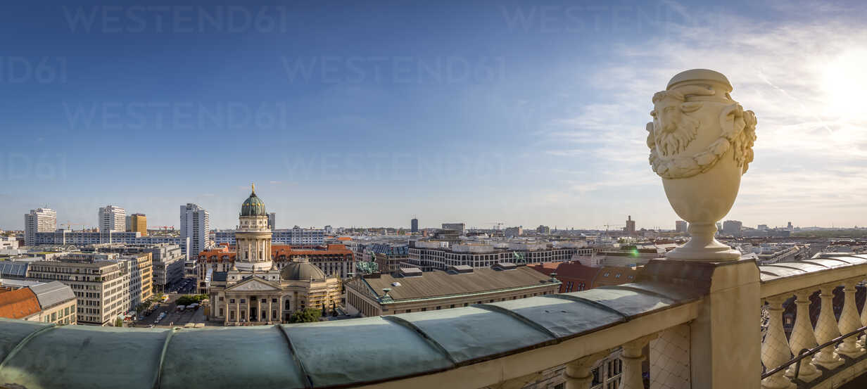 Germany, Berlin, panoramic city view from roof terrace of French Cathedral - NKF000384 - Stefan Kunert/Westend61