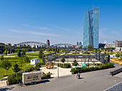 Germany, Frankfurt, Hafenpark and European Central Bank - AM004183