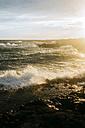 Italy, Apulia, Beautiful sunset on the Mediterranean Sea - GIOF000094