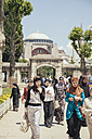 Turkey, Istanbul, Sultanahmet, view to Hagia Sofia with group of women walking in the foreground - BZ000237