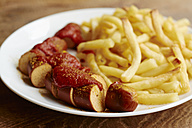 Vegan currywurst with french fries - HAWF000854