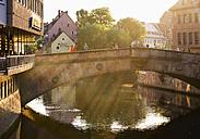 Germany, Nuremberg, Fleisch Bridge over Pegnitz River - SIEF006744
