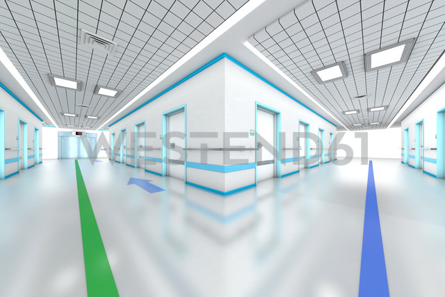 3D rendered illustration, modern hospital - SPCF000065