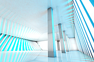 3D rendered illustration, architecture visualization of a futuristic interior - SPCF000061