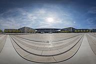 Germany, Berlin Brandenburg Airport, 180° panoramic view of the terminal area - NK000400