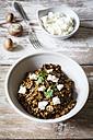 Barley risotto with champignon, feta cheese and coriander - EVGF002174