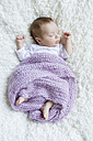 Sleeping newborn baby girl - SHKF000353