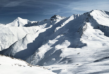 Austria, Tyrol, Ischgl, winter landscape in the mountains - ABF000646