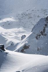 Austria, Tyrol, Ischgl, snowfall in the mountains - ABF000671