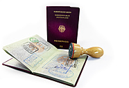 Entry stamp and stamp, passport of Federal Republic of Germany - AMF004205