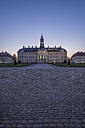 Germany, Wermsdorf, view of Hubertusburg Castle at blue hour - PVC000663