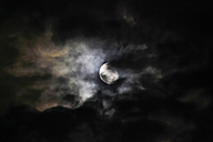 Moon behind clouds in the night - JT000689