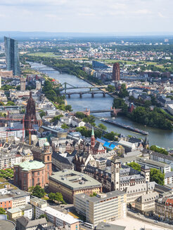 Germany, Hesse, Frankfurt, Cityscape with Main river - AMF004221