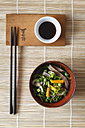 Bowl of miso soup with carrots, champignons and savoy - EVGF002246