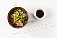 Bowl of miso soup with carrots, champignons and savoy - EVGF002249