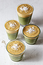 Green smoothies, dessert with vanilla sauce, raw food - EVGF002265