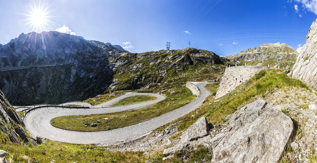 Switzerland, Ticino, Tremola, view to Gotthard Pass - STSF000919