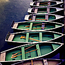 Rowing boats in a row - LVF003952