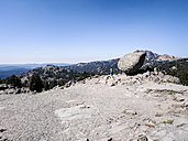USA, California, Lassen Volcanic National Park, Brokeoff volcano, boulder in front of Brokeoff Mountain - SBDF002266