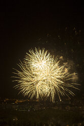 Spain, Lleida, fireworks over the city - JPF000058