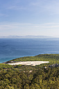 Spain, Andalusia, Bolonia, View over dune and Strait of Gibraltar to coast of Morocco - KBF000344